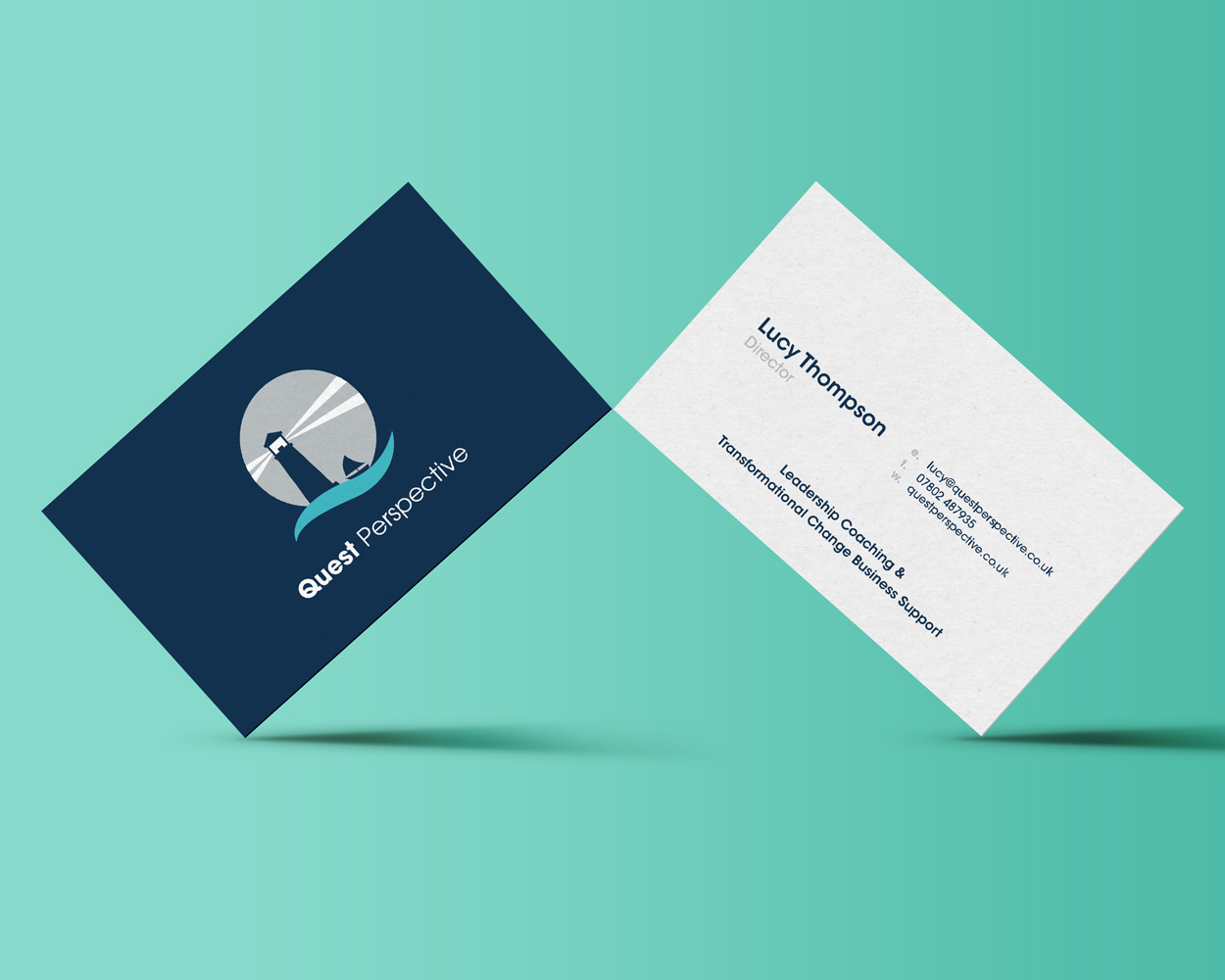 Quest Perspective Logo and Business Card Design