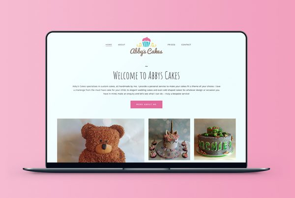 Abbys Cakes Wordpress Website Design Featured