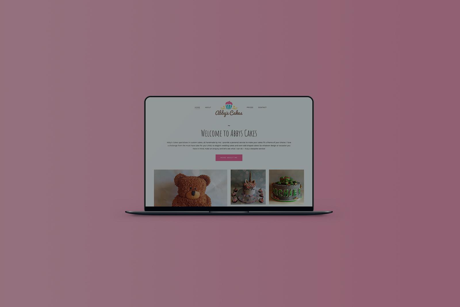 Abby's Cakes WordPress Website Design