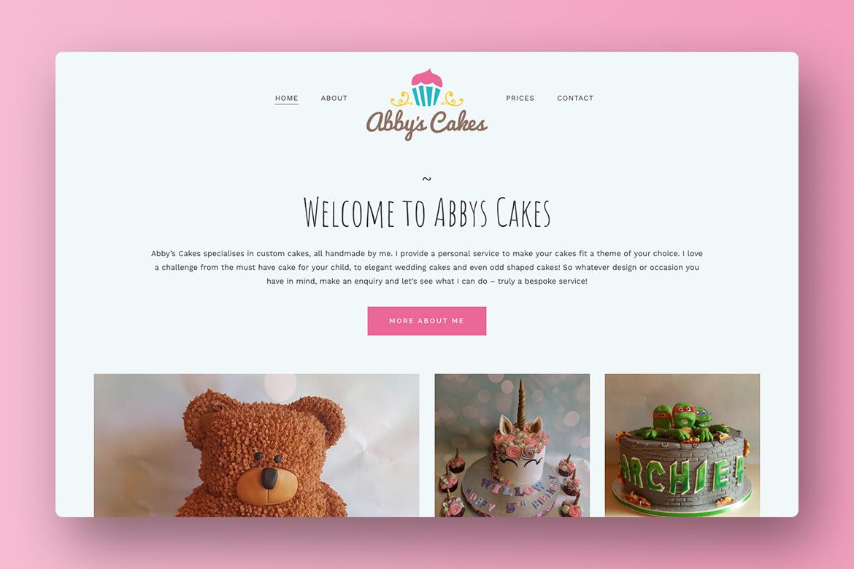 Abbys Cakes Wordpress Website Design