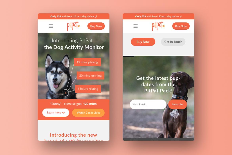 PitPat E-Commerce Responsive Website Design 1