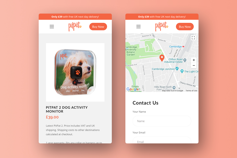 PitPat E-Commerce Responsive Website Design 2