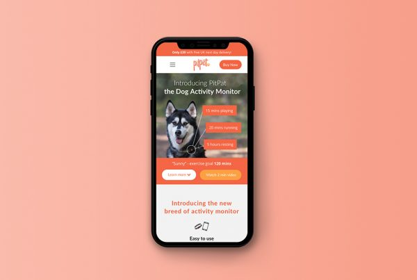 PitPat E-Commerce Website Design Featured